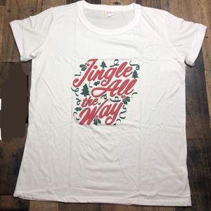 LulaRoe Liv shirt, Christmas 2019, 3XL, NEW w/tags